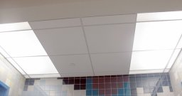 White Transulcent Acrylic Panels and 2' x 2' Acosutical Ceiling Panels